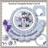 Snowman Snowglobe Rocker Card Kit