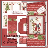 Gladtidings Santa Cracker Card