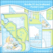 Bundle Of Joy Scalloped Pocket Card & Envelope Set