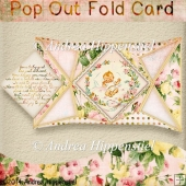 Pop Out Fold Card Vintage Baby