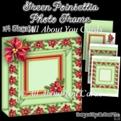 Green Poinsettia Photo Frame