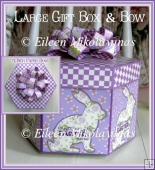 Easter Bunny Gift Box and Coordinating PAPER Bow w/Directions