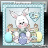 Happy Easter Bunny Blue Mini Kit