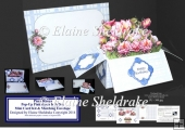 Pink Roses Pop-Up Box Card Kit & Matching Envelope