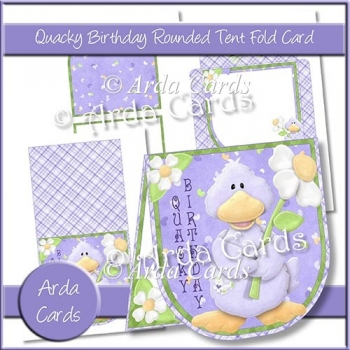 Quacky Birthday Rounded Tent Fold Card