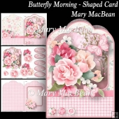 Butterfly Morning - Shaped Card
