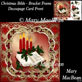Christmas Bible - Bracket Frame Decoupage Card Front