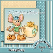 Feeling Poorly Card Front Topper