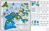 The Blue Santa Sack Christmas Card Kit with 24 different sentime