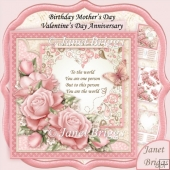 You Are the World Pink Roses Verse 8x8 Decoupage Kit