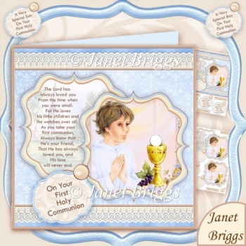 First Holy Communion Boy & Verse 8x8 Kit