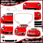 Car shapped Father's Day / Male Birthday Card