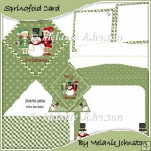 Snowman and his Elves Spring Card
