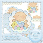 Just Baby Boy Easter Scalloped Rocker Card