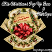 This Christmas Pop Up Box Card & Envelope