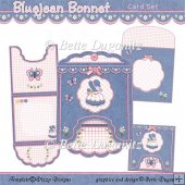 Bluejean Bonnet Drop Flap Card