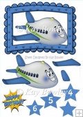 Toony face plane in blue frame