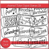 Assorted Ticket Digital Stamps CU