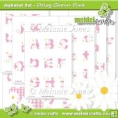 Daisy Chain Pink Alphabet & Numbers
