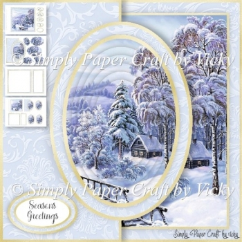 Winter Half Front Card 3
