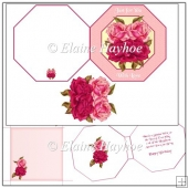 Octagonal Rose Card