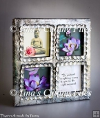 4 window shadow box frame