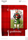Bagpipe Player Dude Green Kilt Gift Bag