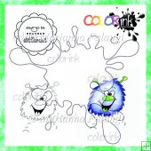 Hoppy around and sentiment Digi stamp