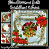 Blue Christmas Bells Card Front & Insert