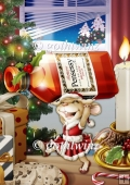 Mrs Christmas Brandy Mouse A4