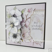 FLORAL SIDE DECOUPAGE CARD