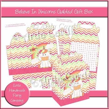 Believe In Unicorns Gabled Gift Box