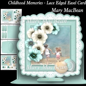 Childhood Memories - Lace Edged Easel Card