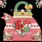 Christmas Heart Teapot Card