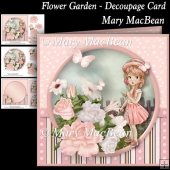 Flower Garden - Decoupage Card