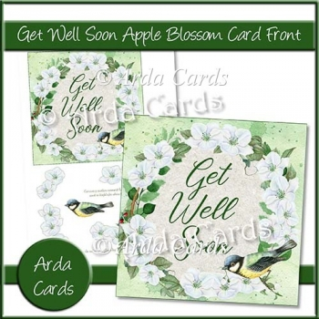 Get Well Soon Apple Blossom Card Front