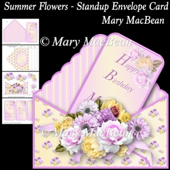 Summer Flowers - Stand-up Envelope Card
