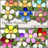 12 Beautiful Doodle Flowers