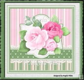 Birthday rose 7x7 card