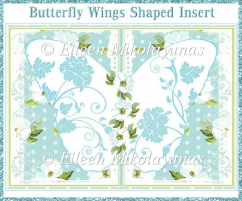 Butterfly Wings Shaped Card Insert
