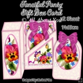 Fanciful Pansy Gift Box Card