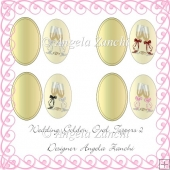 Wedding Golden Oval Toppers 2