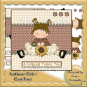 Sunflower Girls 1 Card Front
