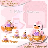Pink Chick Easter Rocker Card