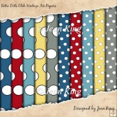 Retro Dots Ohh Vintage A4 Papers