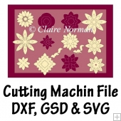 Nesting Flowers Cutting Machine File GSD SVG DXF