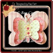 209 Butterfly Layered Shaped Card *Multiple MACHINE Formats*