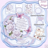WEDDING DAY VERSE & ROSES 7.7 Large Easel Card & Decoupage