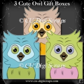 3 Cute Owl Gift Boxes