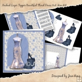 Arched Layer Topper Card Beautiful Floral Dress 8x8 Mini Kit